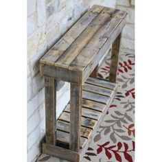 "36 ""Lamellenkonsole # Lamellenkonsole – Holz DIY Ideen – Famous Last Words Wooden Pallet Projects, Wooden Pallet Furniture, Wooden Pallets, Rustic Furniture, Furniture Ideas, Furniture Design, Pallet Wood, Pallet Table Outdoor, Cheap Furniture"