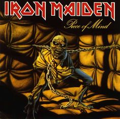 Iron Maiden - Piece of Mind ( Heavy Metal ) Year ( Ano ): 1983 Tracklist: Where Eagles Dare Revelations Flight of Icarus Die With Your B. Iron Maiden - Piece of Mind Bruce Dickinson, Dream Theater, Iron Maiden Album Covers, Iron Maiden Albums, Iron Maiden First Album, Black Sabbath, Metallica, Rock And Roll, Eddie The Head