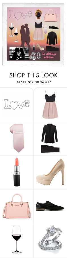 """Happy Valentine's Day!"" by annalaris on Polyvore featuring Polaroid, Topshop, Alfani, Lanvin, MAC Cosmetics, Qupid, MICHAEL Michael Kors, Topman, Riedel and Bling Jewelry"