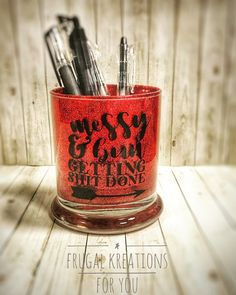 Your place to buy and sell all things handmade - Excited to share this item from my shop: Red Makeup Brush Holder, Red glitter jar, glittered - Glitter Jars, Glitter Crafts, Red Glitter, Red Makeup, Lots Of Makeup, Makeup Kit, Skin Makeup, Makeup Storage, Makeup Organization