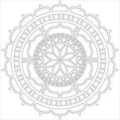 Rosetta 12 x12 Stencil / Template-Design perfekt durch LindasArtSpot