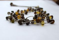 Raw  Amber Healing Necklace / Natural Dark Amber by DreamsFactory, $57.00