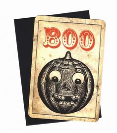 Vintage Halloween Note Cards