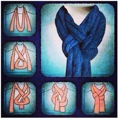 How to wear pashminas scarf knots 52 ideas Ways To Tie Scarves, Ways To Wear A Scarf, How To Wear Scarves, Wearing Scarves, Fall Scarves, Autumn Inspiration, Mode Inspiration, Style Blog, My Style