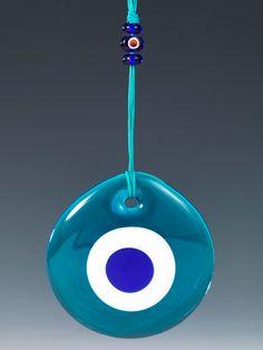 Nazar Boncuğu Turkuaz-Opal-Kobalt Delikli