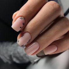 Nail Art Designs, Manicure Nail Designs, Manicure Y Pedicure, Light Pink Nails, Purple Nails, Olive Nails, Nails Inspiration, We Heart It, Floral Prints