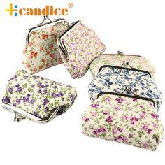 Best Gift Women Lady Retro Vintage Flower Small Wallet Hasp Purse Clutch Bag jun4