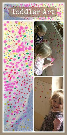 Toddler art idea based on The Obliteration Room