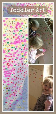 Toddler art idea based on The Obliteration Room