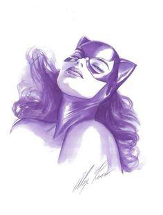 "bobjackets: ""Catwoman art by Alex Ross. Comic Book Artists, Comic Book Characters, Comic Book Heroes, Comic Artist, Comic Character, Comic Books Art, Batgirl, Batman Et Catwoman, Batman Art"
