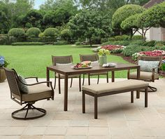 #BHGMakeitFunEntry  Better Homes and Gardens Lynnhaven Park 6-Piece Outdoor Dining Set