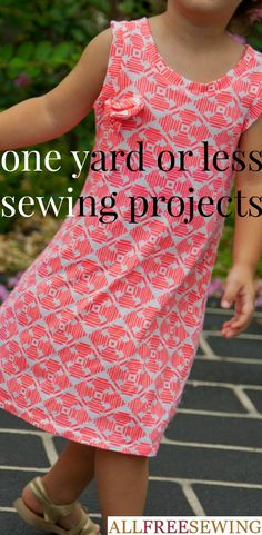 One yard wonders are the types of projects you create in an afternoon. These small sewing projects only take one yard of fabric (or less) and look absolutely fantastic. Sew something small and quick with these free sewing patterns.