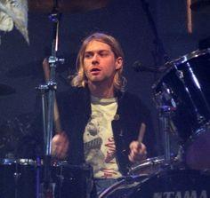 Kurt playing drums