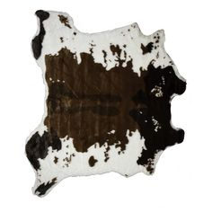 HomeRoots x Brownsville Chocolate and White, Faux Hide- Area Rug at Lowe's. Carve out a unique look and a luxury ambiance your living space with this faux hide area rug. This is a perfect alternative to real animal hide that is Faux Cowhide Rug, Faux Fur Area Rug, White Rug, White Area Rug, Blackberry Syrup, Cow Hide Rug, Natural Texture, Throw Rugs, Colorful Rugs