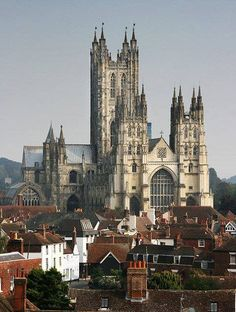 Canterbury Cathedral, one of the oldest and most famous Christian structures in England. from Iryna