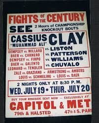 Image result for sonny liston cassius clay fight poster