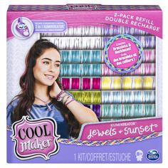 Cool Maker, Kumikreator Sunset and Jewels Fashion Pack 2 Pack Refill, Friendship Bracelet and Necklace Activity Kit, Multicolor *** (paid link) Learn more by visiting the image link.