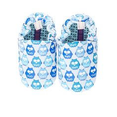 Blue Owls Mini Shoes