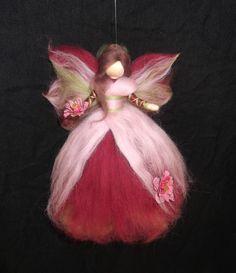 Herbst - Herbst-Blumen-Fee aus Märchenwolle - ein Designerstück von sommerli bei DaWanda