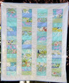I made a quilt for our friends' baby girl. This is from Moda's Stacked Coins  pattern, the same one I used for our baby boy quilt , one of m...