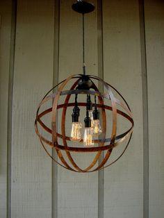 Edison bulb orb chandelier for over kitchen table Orb Chandelier, Bulb, Light Fixtures, Home Lighting, Lights, Edison Bulb, Diy Light Fixtures, Wire Basket Chandelier, Chandelier