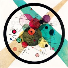 Wassily Kandinsky Circles in a Circle Poster at Posterlounge ✔ Fast delivery ✔ Large selection ✔ High quality prints ✔ Buy Wassily Kandinsky posters now! Kandinsky Art, Wassily Kandinsky Paintings, Bauhaus, Composition Drawing, Architecture Collage, Principles Of Art, Wall Art For Sale, Inspirational Wall Art, Pop Art