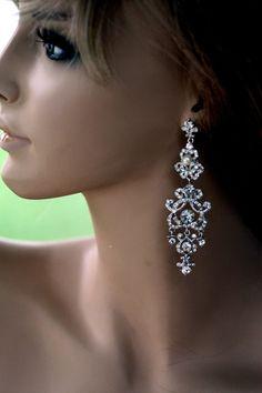 Swarovski Bridal Earrings Pearl earrings Crystal by Rhinestone Earrings, Wedding Earrings, Crystal Earrings, Diamond Earrings, Chandelier Earrings Wedding, Stud Earrings, Vintage Earrings, Art Deco, Beautiful Earrings
