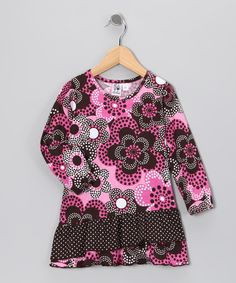Take a look at this Pink Dotty Drop-Waist Dress - Toddler & Girls by Girlfriends by Anita G. on #zulily today!