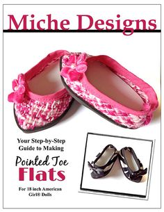Miche Designs Pointed Toe Shoe Doll Clothes Pattern by LibertyJane, $3.99
