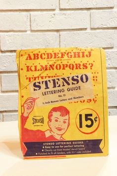 Vintage STENSO Lettering Guide 1950 Stencil and by CabinOn6th, $7.00