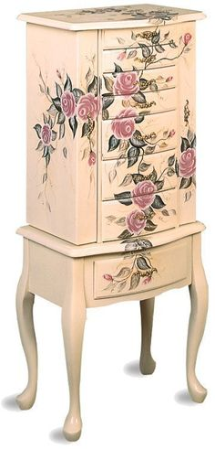 Image detail for -Hand Painted Jewelry Armoire by Coaster Furniture