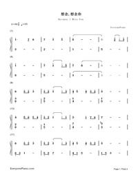 Because I Miss You-Love in the Moonlight OST-Numbered-Musical-Notation-Preview-1