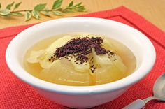 ごろっと玉ねぎスープ 赤しそ風味