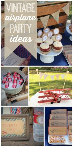 amazing vintage airplane boy birthday party with fun old fashioned details and decorations! See more party ideas at !An amazing vintage airplane boy birthday party with fun old fashioned details and decorations! See more party ideas at ! Planes Birthday, Planes Party, Vintage Airplane Party, Vintage Airplanes, 3rd Birthday Parties, Birthday Fun, Birthday Ideas, Birthday Cakes, Party Decoration
