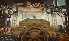 Background - from the cabin of zeppelin by Pykodelbi on deviantART