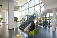 The office space entrance area at Croxley Park. The Office, Offices, Entrance, Stairs, Space, Home Decor, Entryway, Stairways, Display