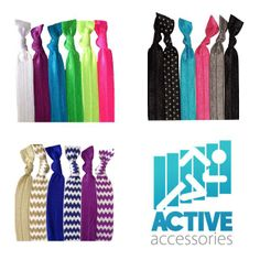 So many colors! Active Accessories On-The-Go #Hair Band #Bracelets - 6 #hairties in a pack. Turn your bracelet into a hair tie. #beactive