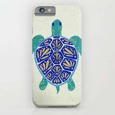 iPhone 6 Cases featuring Sea Turtle by Cat Coquillette