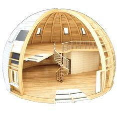 Start building amazing sheds the easier way with a collection of shed plans! Tiny House Cabin, Tiny House Design, House Contemporary, Yurt Living, Geodesic Dome Homes, Woodland House, Dome House, Earth Homes, Round House