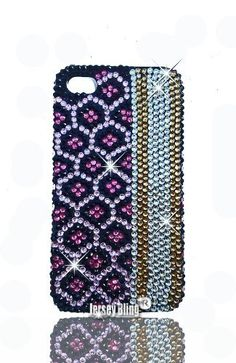 LEOPARD BLING 3d Handmade Swarovski Crystal & Rhinestone Animal Print Iphone 4 case/cover - Brown Leopard (Pink):Amazon:Cell Phones & Accessories