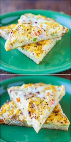 Vegetable Fried Rice Frittata - Like a fried rice & veggie stir fry that was baked into soft creamy eggs! Easy, flavorful & healthy!