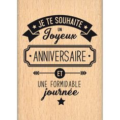 Birthday Quotes : Tampon bois 'Florilèges Design - Capsule Octobre' Je te souhaite - The Love Quotes Happy Birthday 1, 30th Birthday Balloons, Birthday Balloon Decorations, Happy Birthday Quotes, Man Birthday, Birthday Greetings, Birthday Ideas, Happy Anniversary Wishes, Minecraft Birthday Party