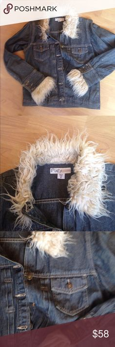 RUSTY  Faux fur Denim jacket RUSTY SURF BRAND. Faux Fur Denim Jacket. Button front and cuffs. Size Large. Only reasonable offers please. Rusty Jackets & Coats Jean Jackets