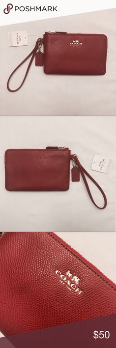 Coach Wristlet | NWT Coach wristlet in luxurious & soft red pebbled leather. Brand new with tags BNWT Tags: Michael Kors Kate Spade D&B Coach Bags Clutches & Wristlets