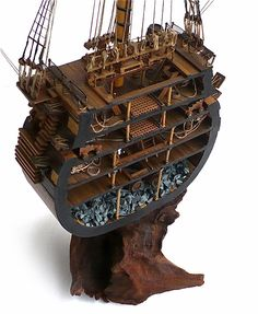 """Here are some images of Corel's 1/98 scale HMS Victory Cutaway of the main mast section.   From Wikipedia""""  HMS Victory  is a 10..."""