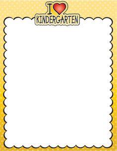 I Love Kindergarten Stationery **FREEBIE**
