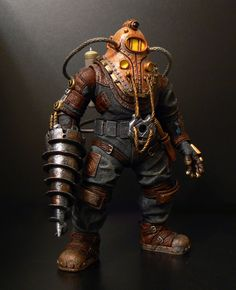Subject Delta's Drill – Co-Op Campaign Bioshock Cosplay, Little Sister Cosplay, Cyborg Costume, Delta Art, Bioshock Game, Moving Photos, Beyond The Sea, Bioshock Infinite, Robot Concept Art