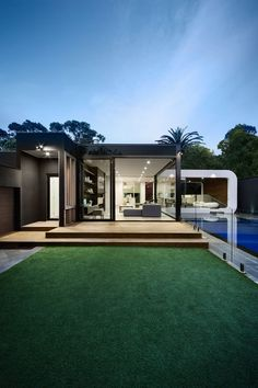 Curva House is a private residence designed by LSA Architects
