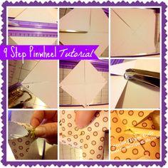 9 Step Pinwheel Cupcake Toppers Tutorial