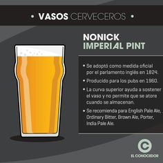 Cerveza Vaso Nonick para Pinta Imperial (Nonick Imperial Pint)